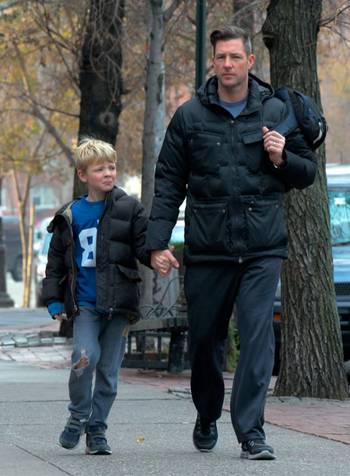 Edward Burns: School Run With Son Finn