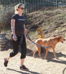 Pregnant Emily Blunt Takes Her Dog For A Hike