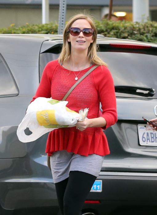 Exclusive... Pregnant Emily Blunt & John Krasinski Lunch With Friends