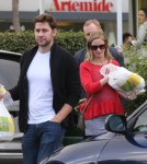 Exclusive... Pregnant Emily Blunt & John Krasinski Lunch With Friends