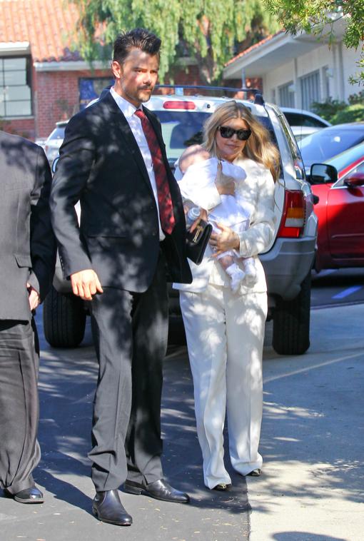 Fergie & Josh Duhamel Baptize Baby Axl