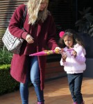 Heidi Klum Takes Lou Out To Lunch At The Toscana Restaurant