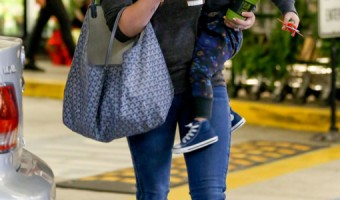 Hilary Duff & Her Son Shopping At Whole Foods