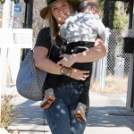 Hilary Duff Spends the Day With her Sleepy Boy