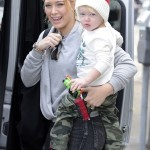 Hilary Duff & her Little Santa Enjoy a Day Out