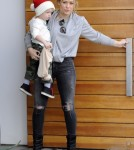 Hilary Duff & Son Luca Shopping In West Hollywood
