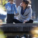 Jennifer Garner & Samuel Bond While Treating Some Hungry Ducks to a Snack