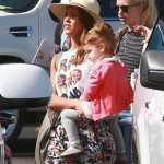 Jessica Alba & Family Touch Down in Cabo for Tropical Vacation