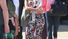 Jessica Alba & Family Arrive In Los Cabos