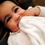 Kim Kardashian Shares Shot of North West. Did she Wax the Baby's Eyebrows?