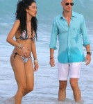 Kimora Lee & Kids Enjoying A Day On The Beach In St. Barts ***SEE RESTRICTIONS***