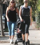 Semi-Exclusive... Malin Akerman Out For A Walk With Her Son