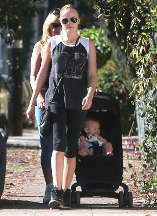 Malin Akerman Strolls With Her Baby Son