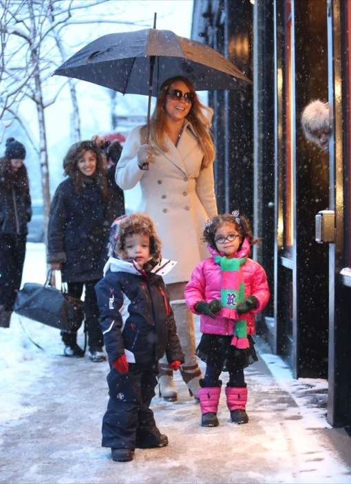 Mariah Carey Shops In Aspen With Her Twins | Celeb Baby ...