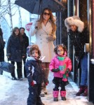 Mariah Carey Shops In Aspen With Her Twins