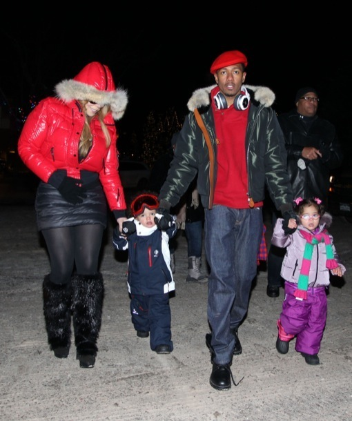 Mariah Carey & Family Step Out In Aspen