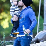 Mike Comrie Bonds With Luca at the Park