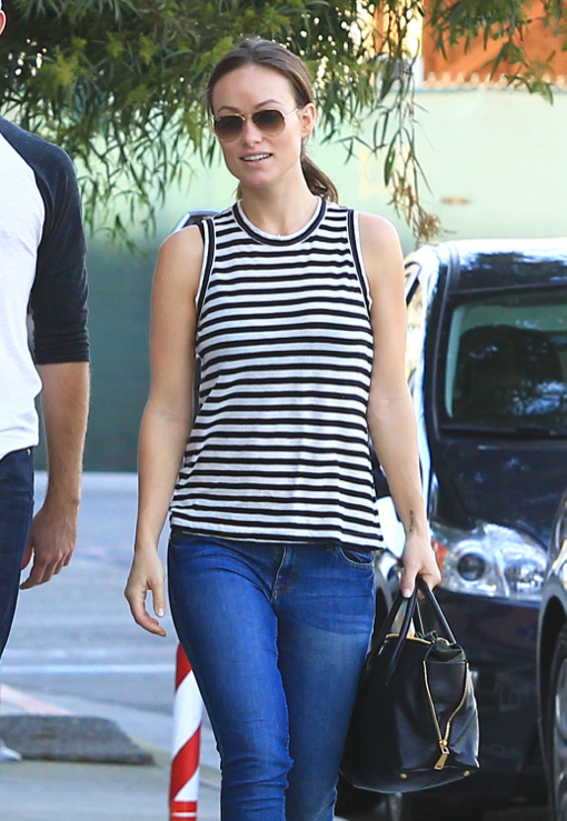 Semi-Exclusive... Pregnant Olivia Wilde Lunches At Cafe Gratitude