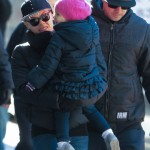 Pink & Family Bundle Up on Cold Winter Day in the Big Apple