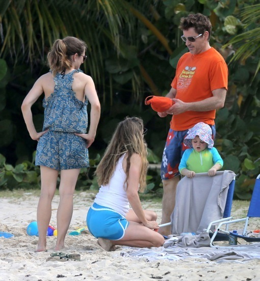 Robert Downey Jr & Family Vacation in St. Barts