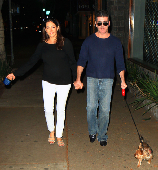 Semi-Exclusive... Simon Cowell & Lauren Silverman Out For Dinner At The Ivy