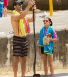 Exclusive... Eric Bana Takes His Family Paddle-Boarding In Australia
