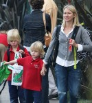 Naomi Watts Picks Up Her Boys From School