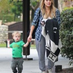 Hilary Duff & Luca Enjoy a Mother-Son Day at the Park