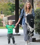 Hilary Duff Takes Luca To The Park