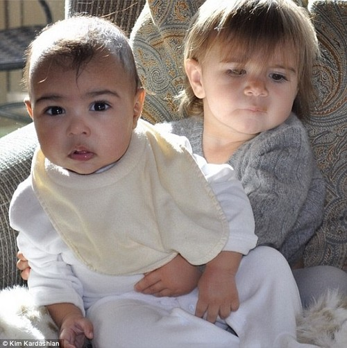 Kim Kardashian Shares Photo Of Penelope Disick Hugging North West (Photo)