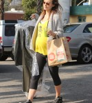 Pregnant Olivia Wilde Runs Errands In West Hollywood