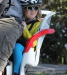 Exclusive... Alyson Hannigan Goes For A Bike Ride With Her Family