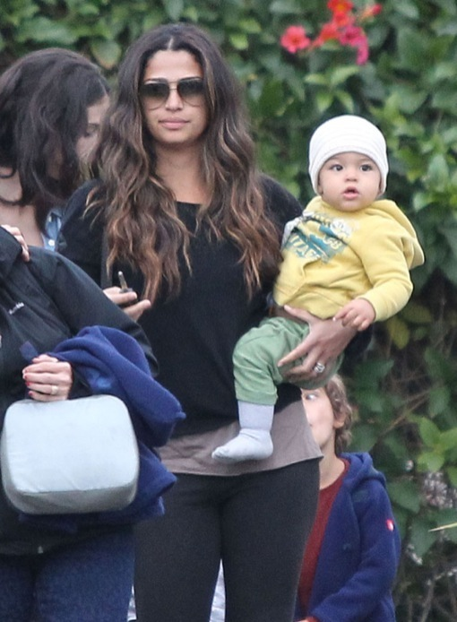 Exclusive... Camila Alves Takes Her Kids To Sky High Sports