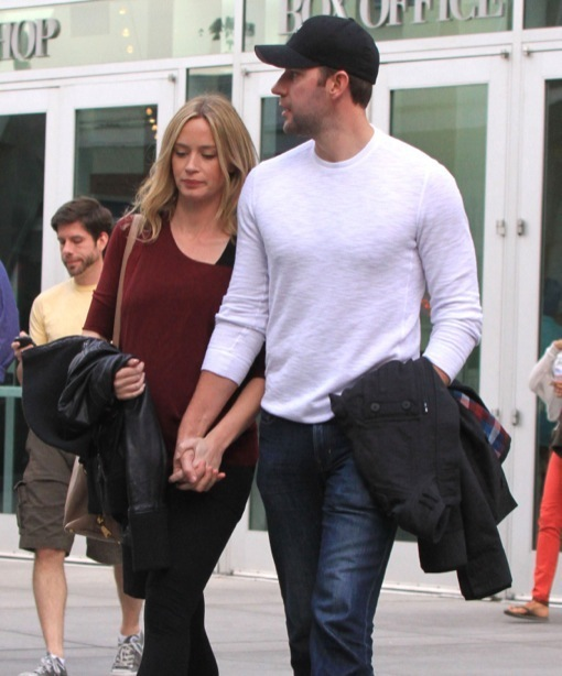 Emily Blunt & John Krasinski: Pre-Baby Date Day at the Movies
