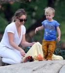 Hilary Duff Enjoys The Park With Luca