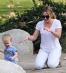 Hilary Duff Enjoys The Park With Luca