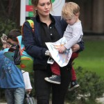 Hilary Duff Picks Her Tot Up From School