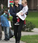 Hilary Duff Picking Up Luca From School
