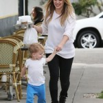 Hilary Duff Spends the Day With Luca