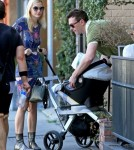 Exclusive... Jaime King & Family Out For Lunch In West Hollywood