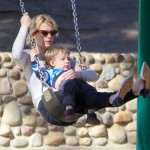 January Jones & Xander Take a Swing