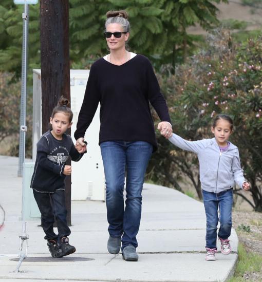 Jennifer Lopez's Children Max & Emme Take a Stroll