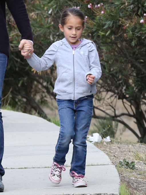 Exclusive... Jennifer Lopez's Twins Out For A Stroll With Their Nanny