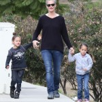 Jennifer Lopez's Children Max & Emme Take a Stroll