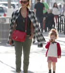 Jessica Alba & Family Out For Lunch In Beverly Hills