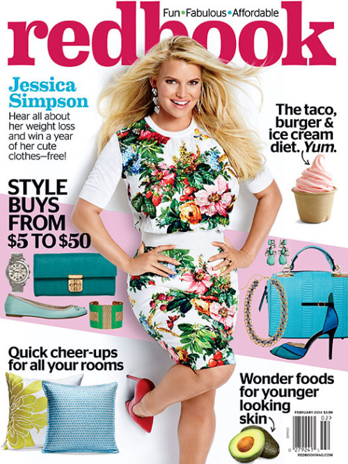 Jessica Simpson Cover Redbook February 2014