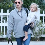 Kate Hudson Visits Family With Bingham