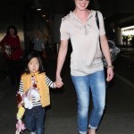 Katherine Heigl & Naleigh Touch Down at LAX