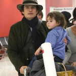 Orlando Bloom & Flynn Touch Down at LAX