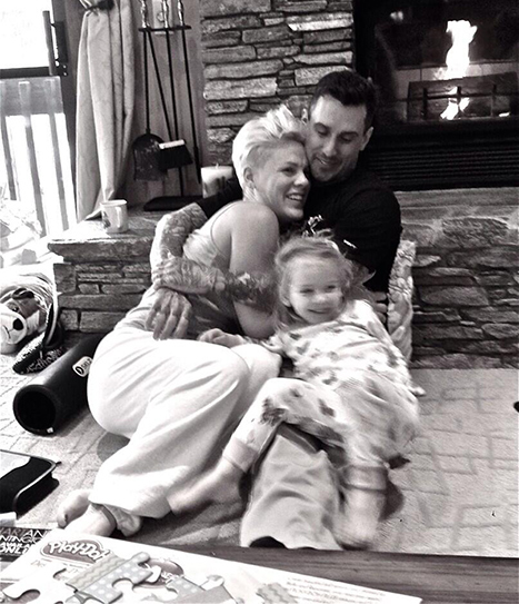 Pink Shares Sweet New Year's Eve Shot of her Family